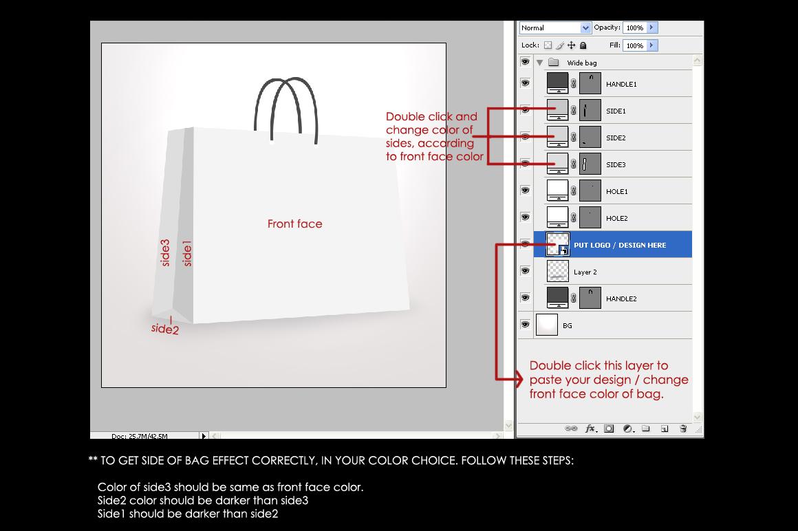 Paper / Shopping bag Mockup example image 4