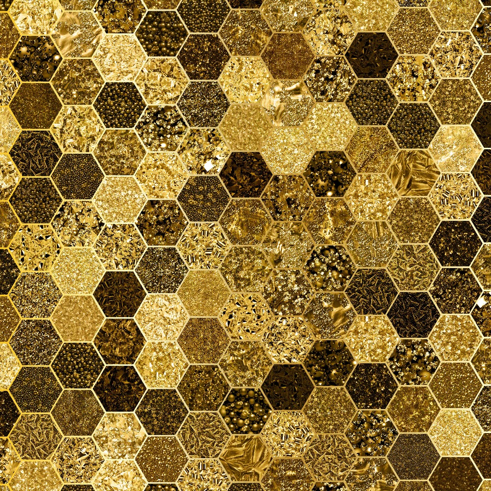 Glitter Honeycomb Digital Paper example image 2