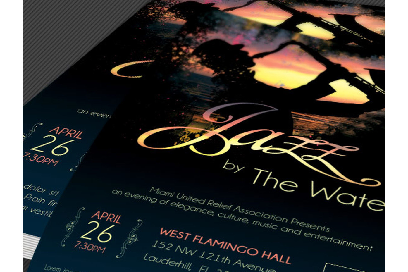 Jazz Concert Flyer Template example image 3