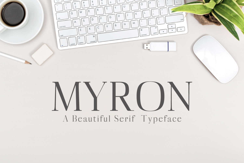 Myron Serif Typeface example image 1