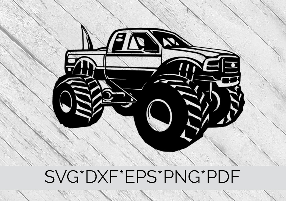 Big Foot Monster Truck  SVG Cutting File  example image 4
