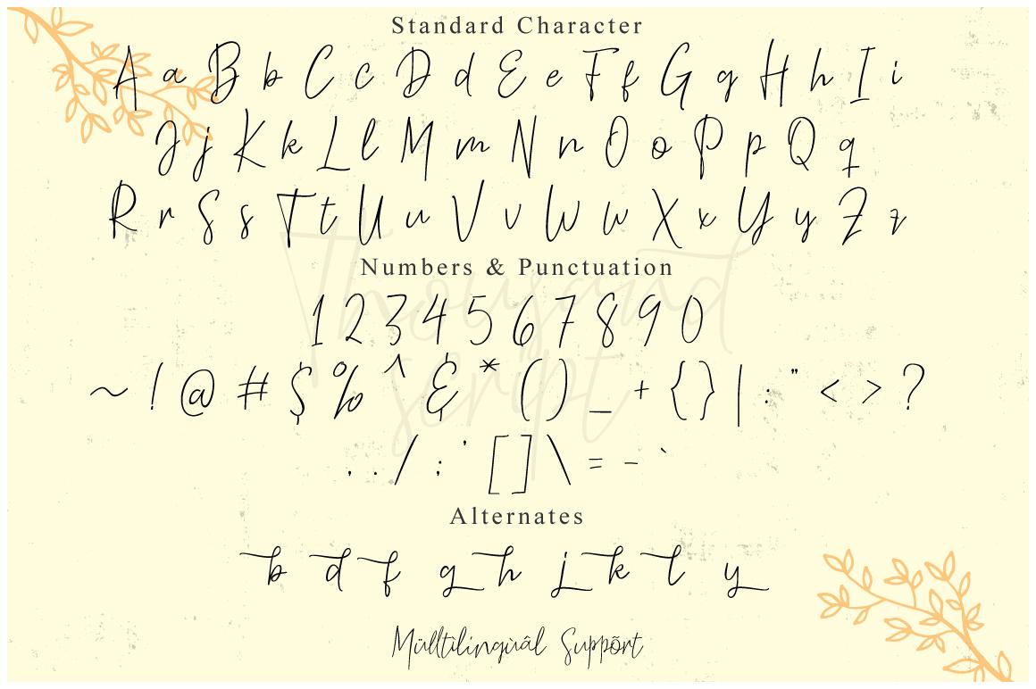 Thousand Script example image 8