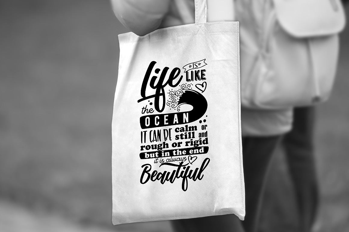Life is like the Ocean - Inspirational Quote example image 1