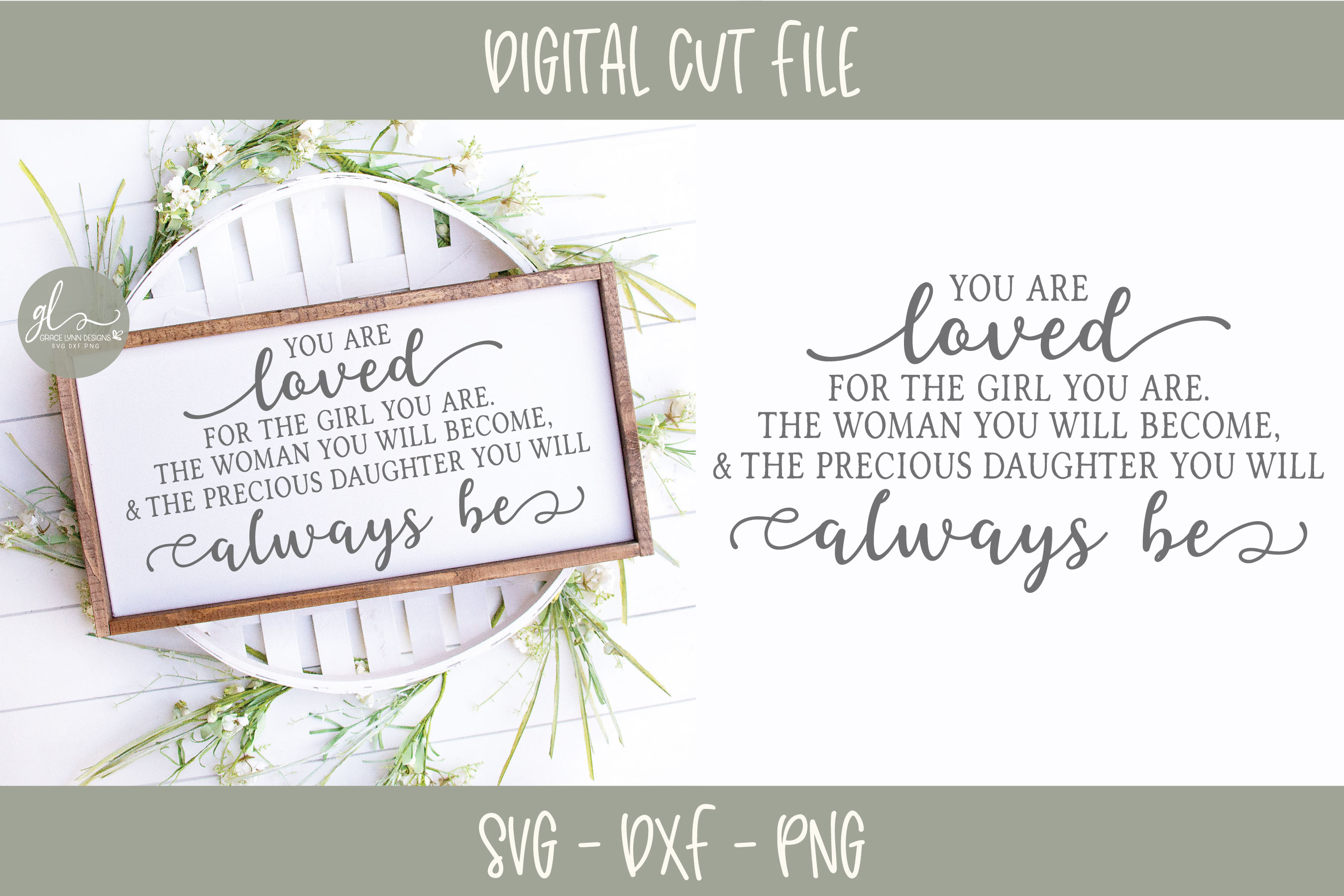 You Are Loved For The Girl/Girls You Are - Nursery SVG example image 1