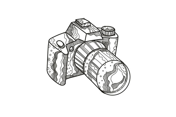 DSLR Camera Doodle Art example image 1