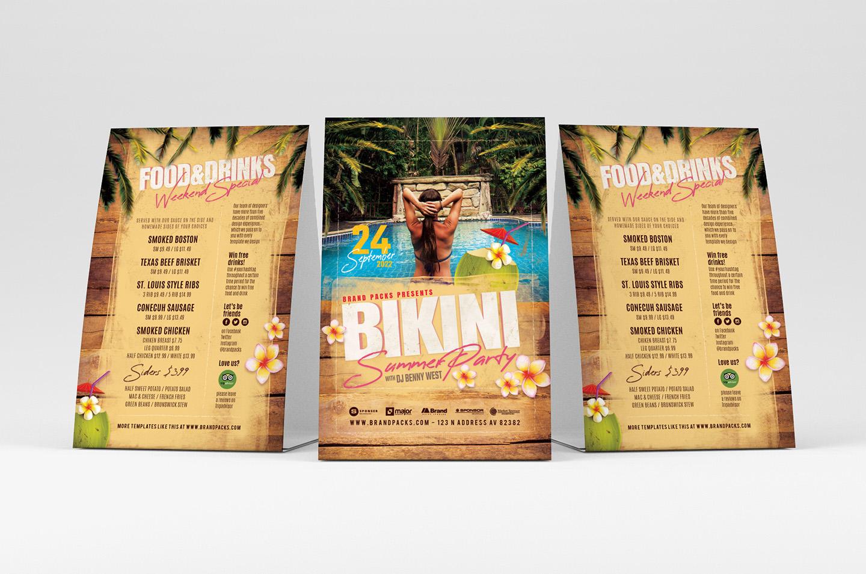 Bikini Party Flyer Template example image 3