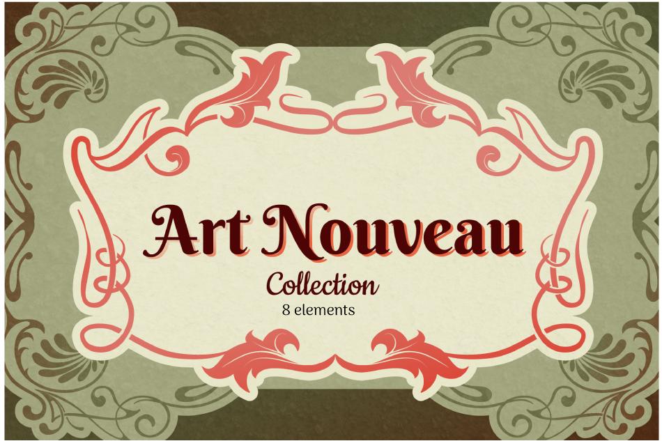 Art Nouveau Frame Collection example image 1