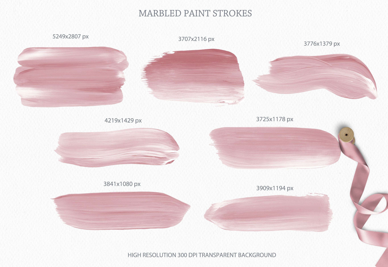 Blush Pink Paint Brush Strokes example image 4