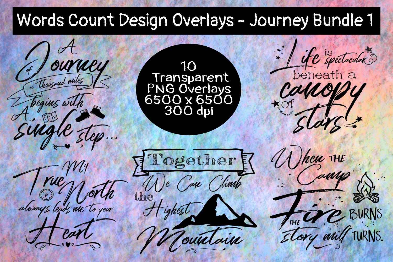Words Count Design - Journey Overlay Bundle #1 example image 2