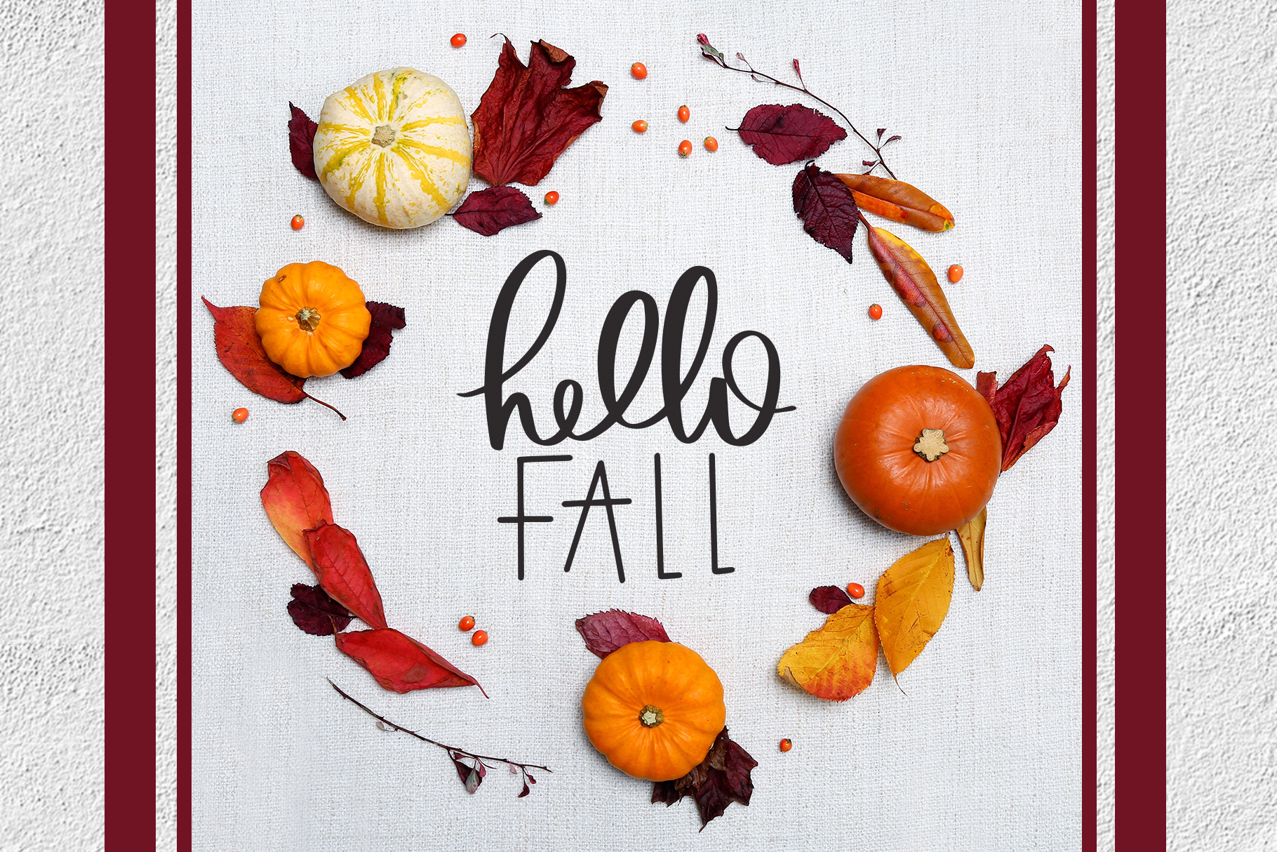 Fall Phrases Symbols Font example image 7