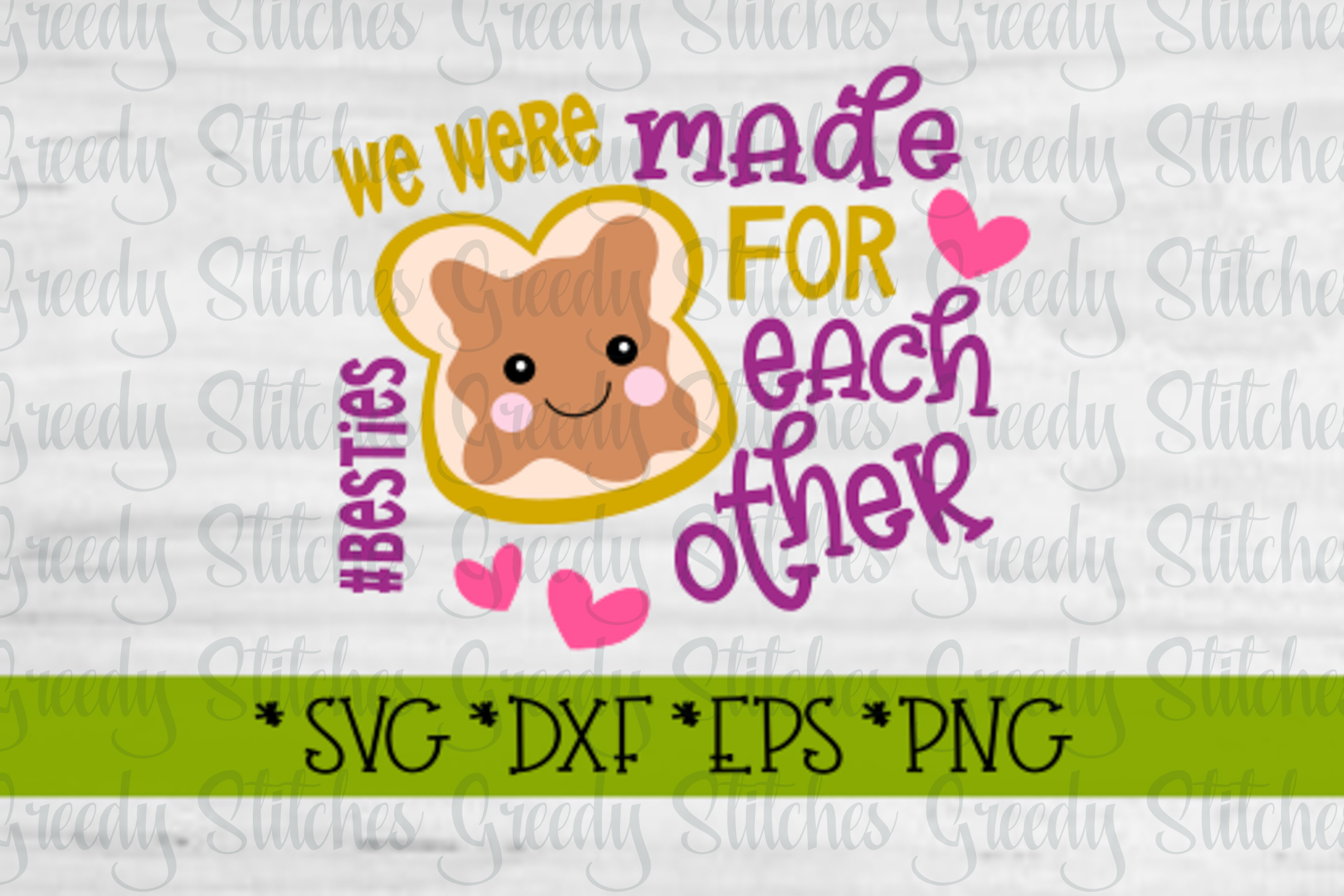 Peanut Butter & Jelly SVG DXF EPS PNG | Best Friends SVG DXF example image 3