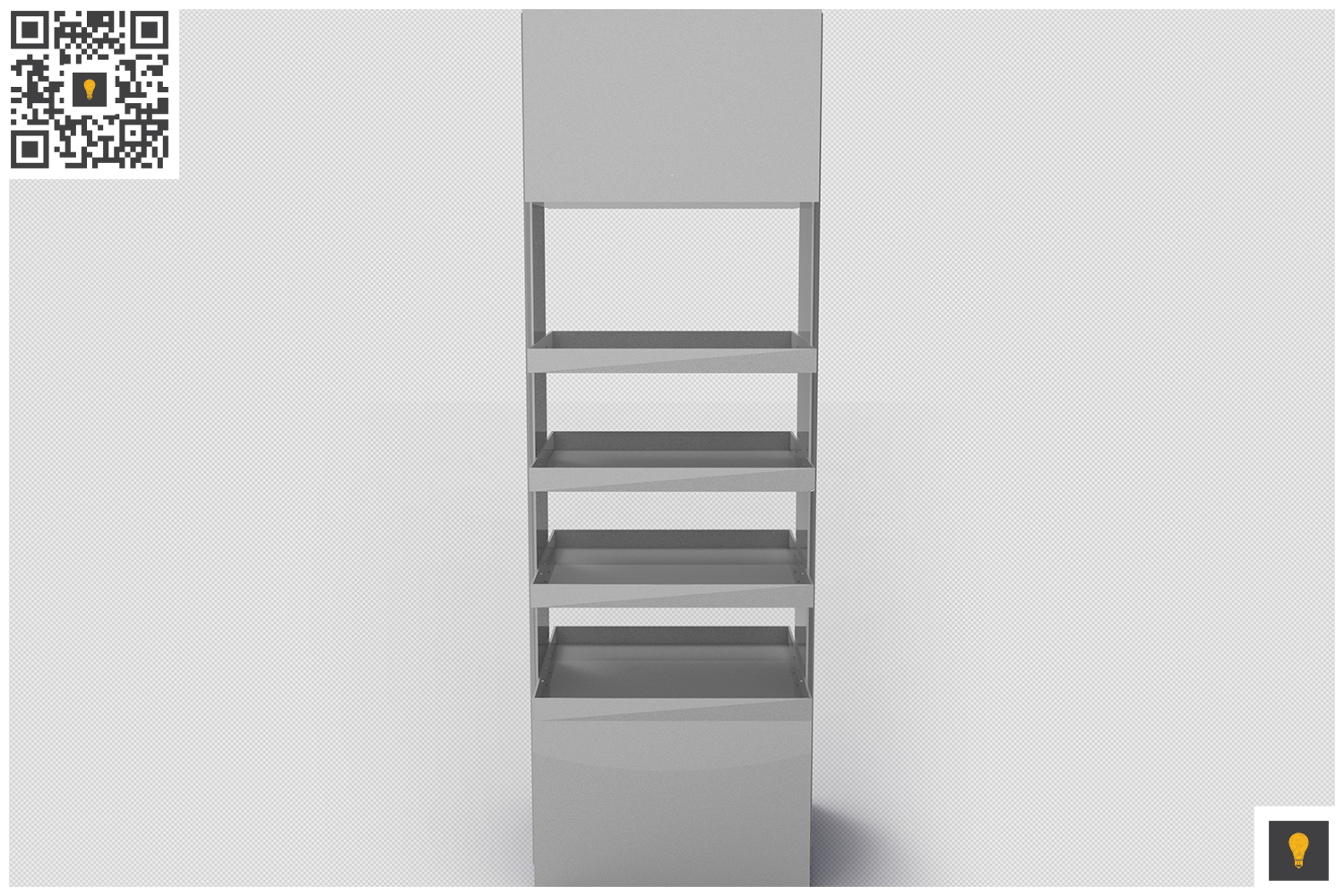 Promotional Store Shelf Stand 3D Render example image 6