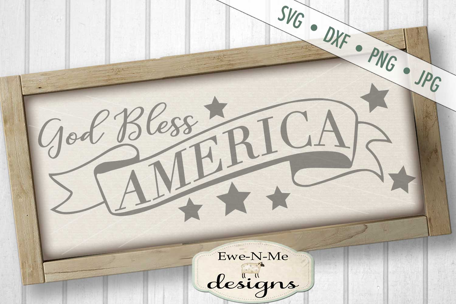 God Bless America SVG DXF Files example image 1