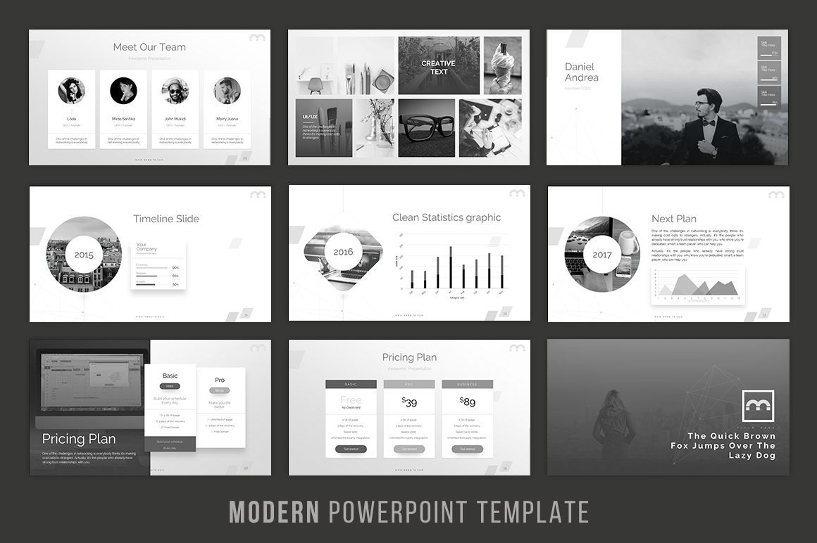 Modern - Powerpoint Template example image 3
