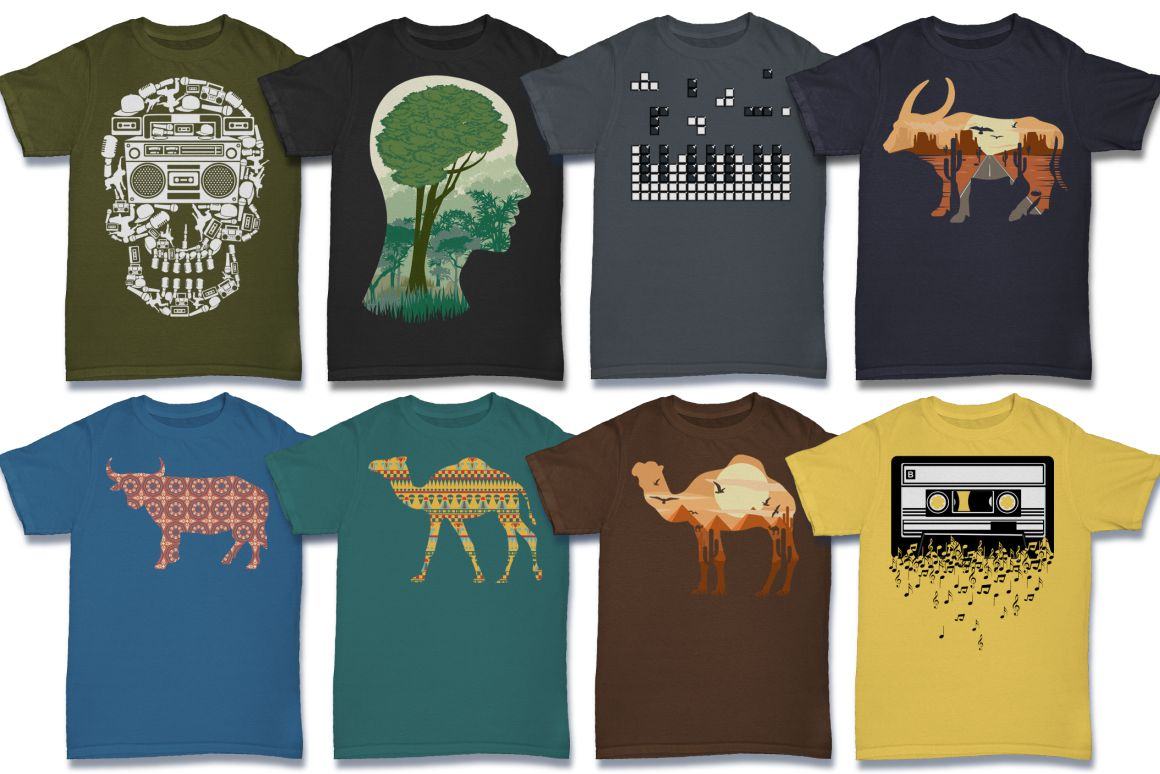 103 Tshirt Designs Mega Bundle example image 3