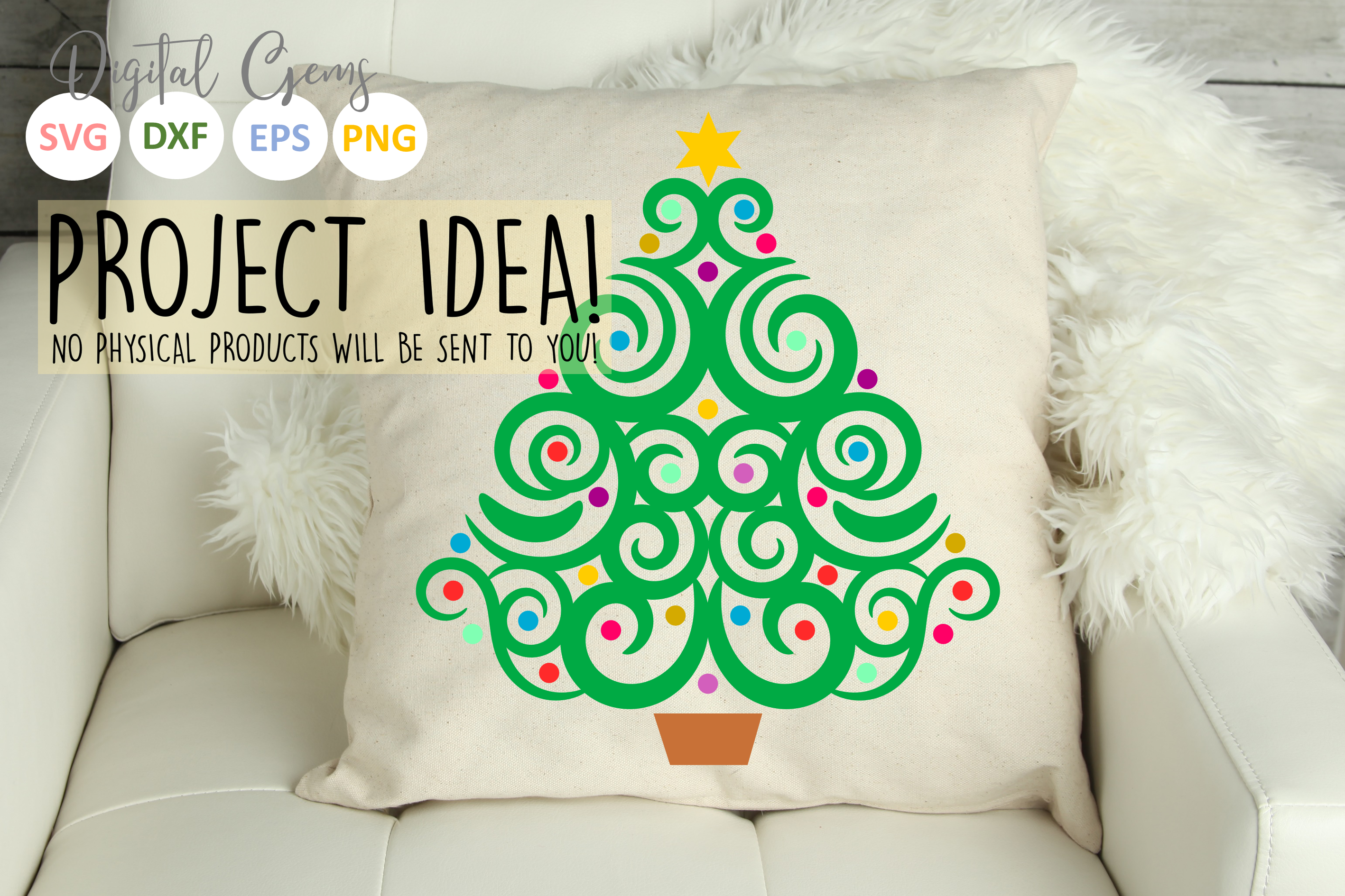 Christmas tree SVG / EPS / DXF / PNG Files example image 4