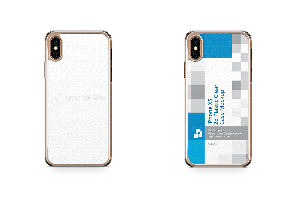 Apple iPhone Xs 2d PC Clear Case Design Mockup 2018 example image 1