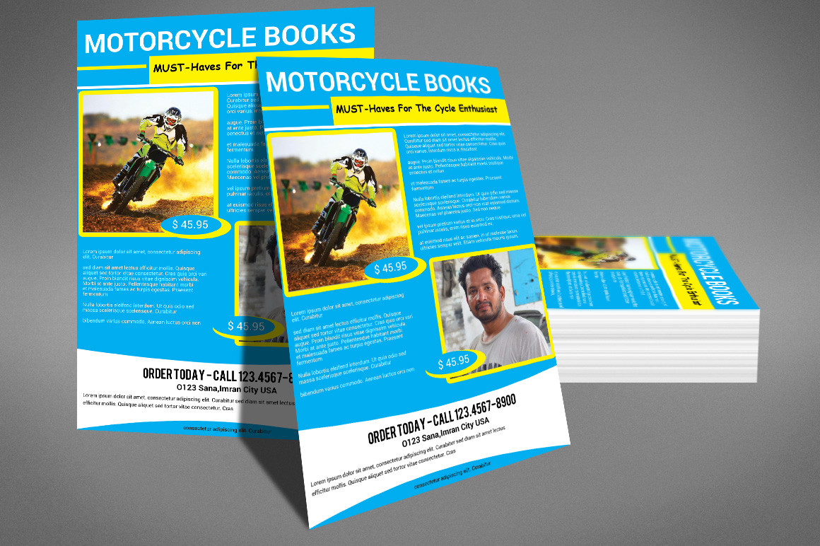 MOTORCYCLE BOOKS FLYER example image 4