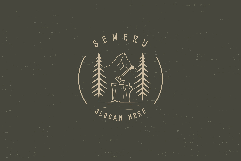 SEMERU Mountain - Logo Template example image 1