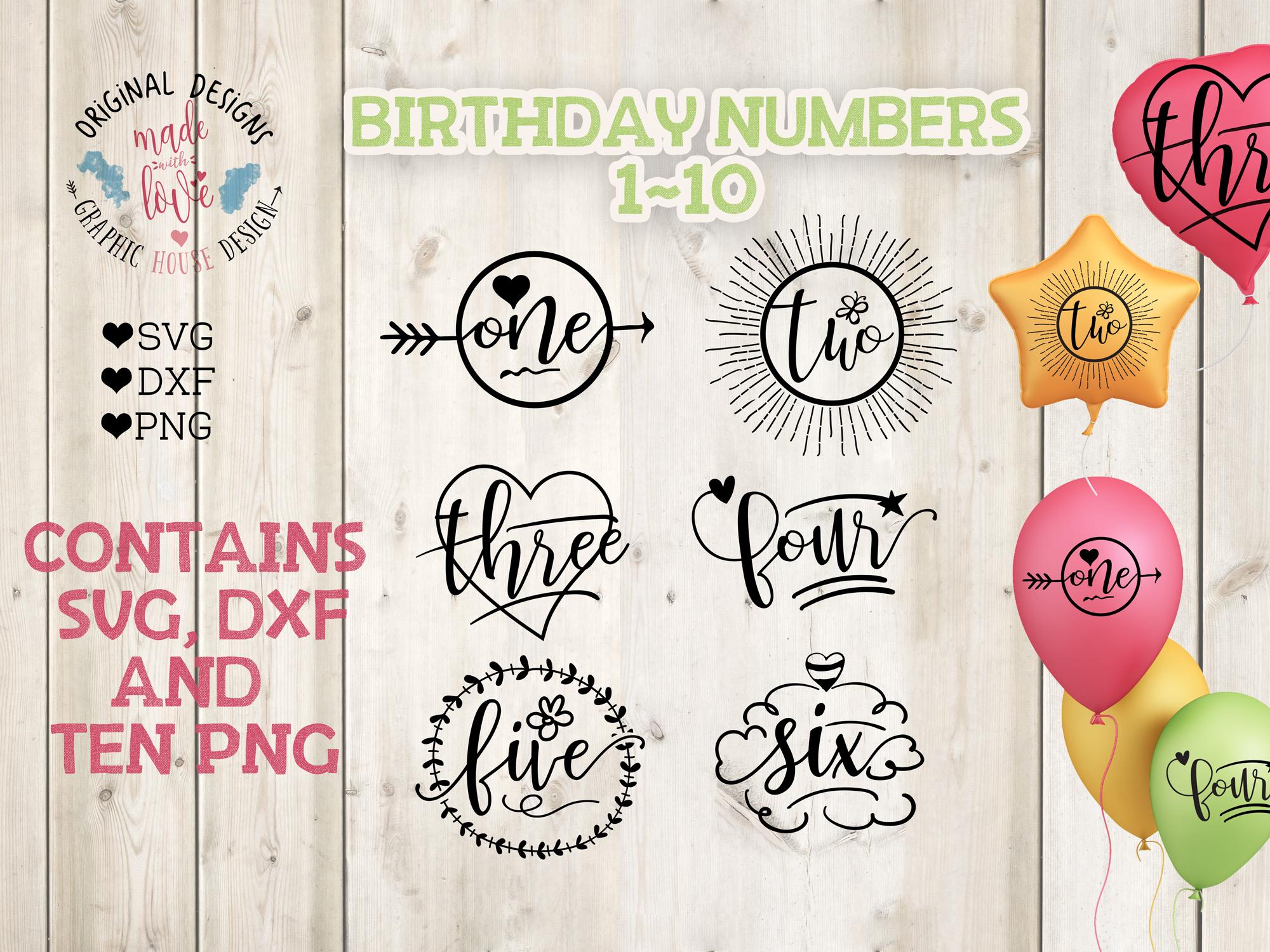 Birthday Numbers Bundle  example image 1