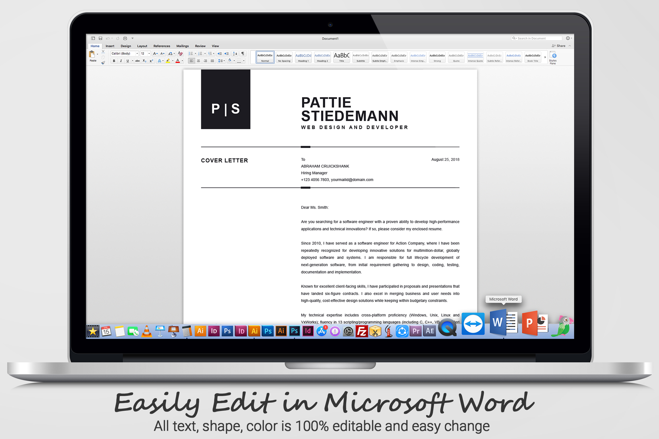 2 Pages Clean Resume Template   Simple & Basic Professional example image 6