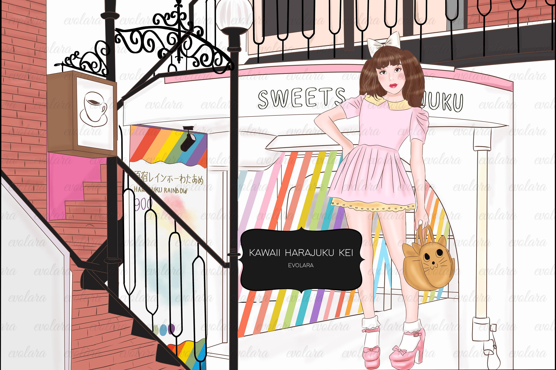 Kawaii Clipart Cute Clipart Pastel Tokyo Japan Fashion example image 1