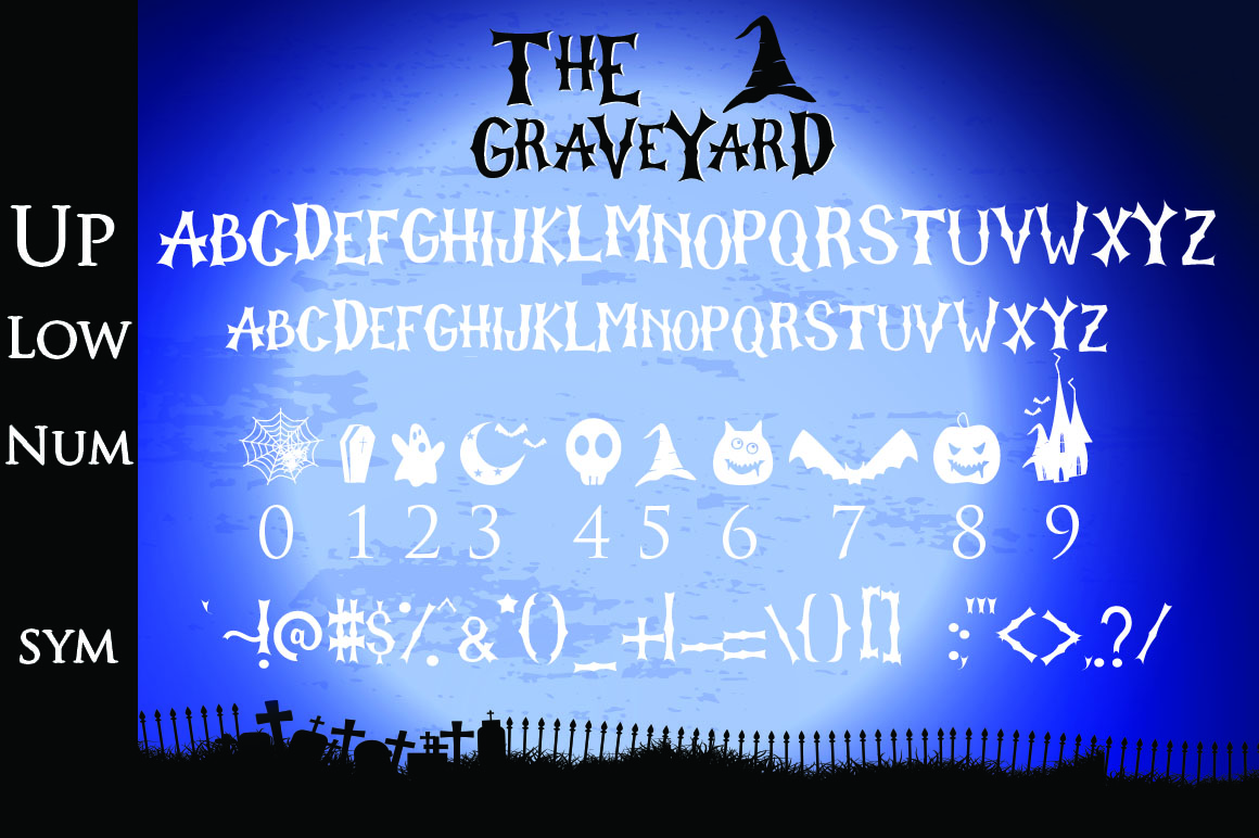 The Graveyard - Spooky Font example image 8