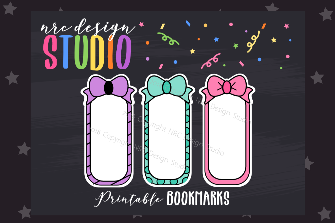 Bow Bookmark, Planner Printable example image 1