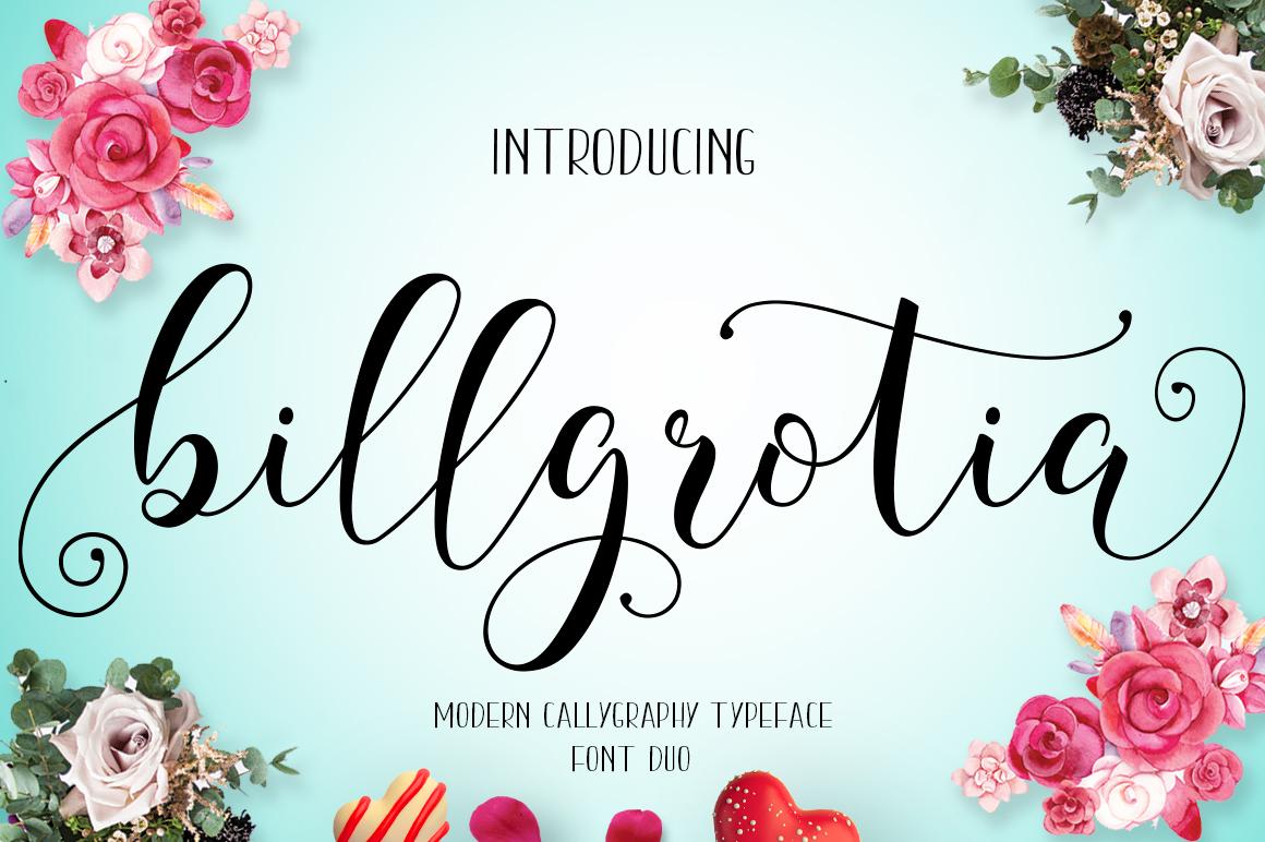 Billgrotia Script example image 1