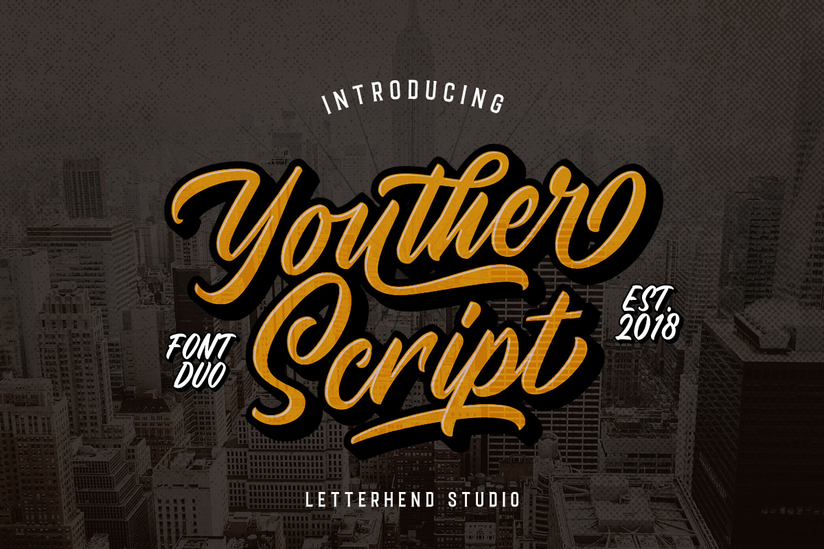 Youther Script - Layered Font Duo example image 1
