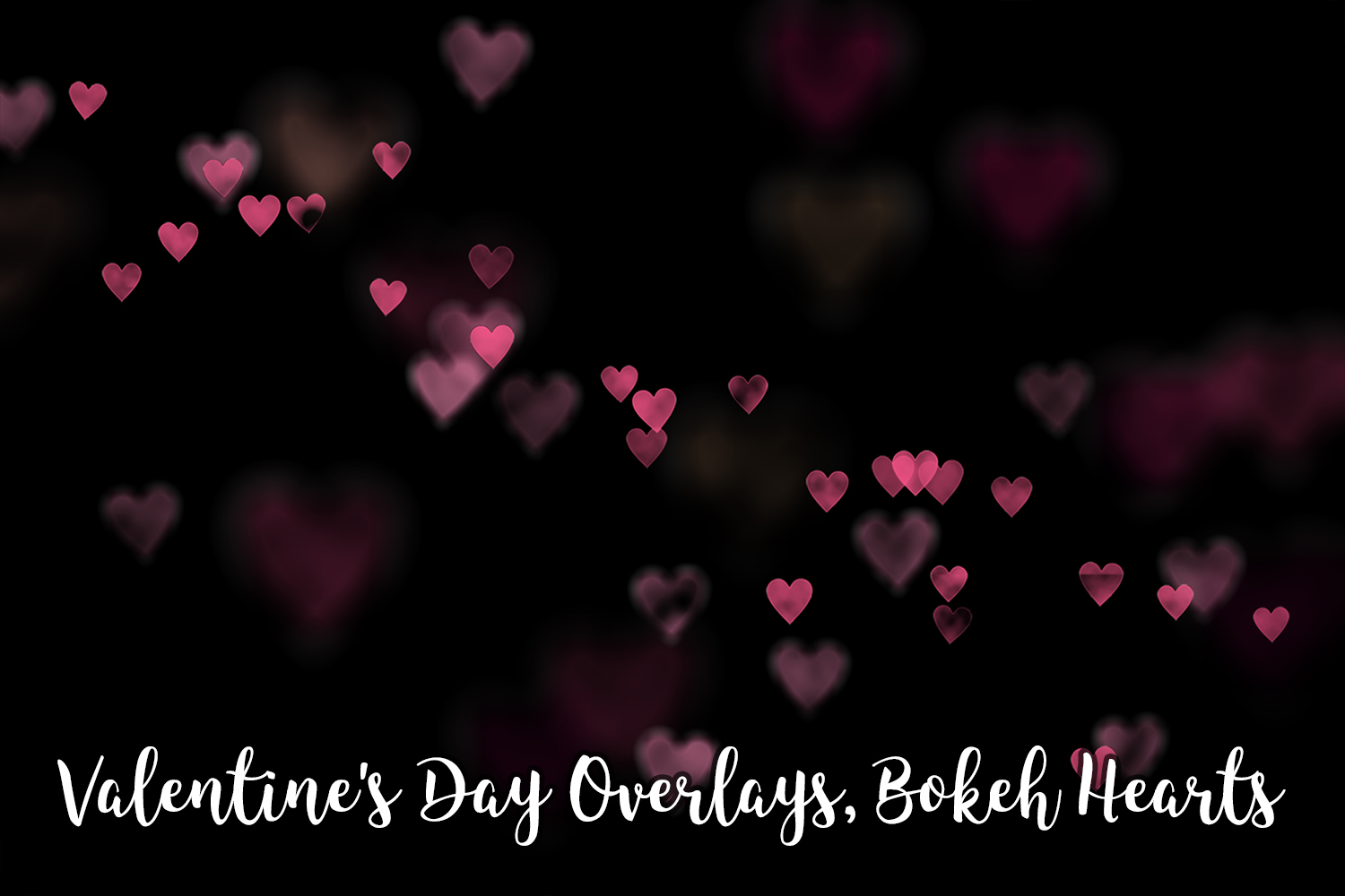 Valentine's Day Overlays, Bokeh Hearts Overlays example image 4