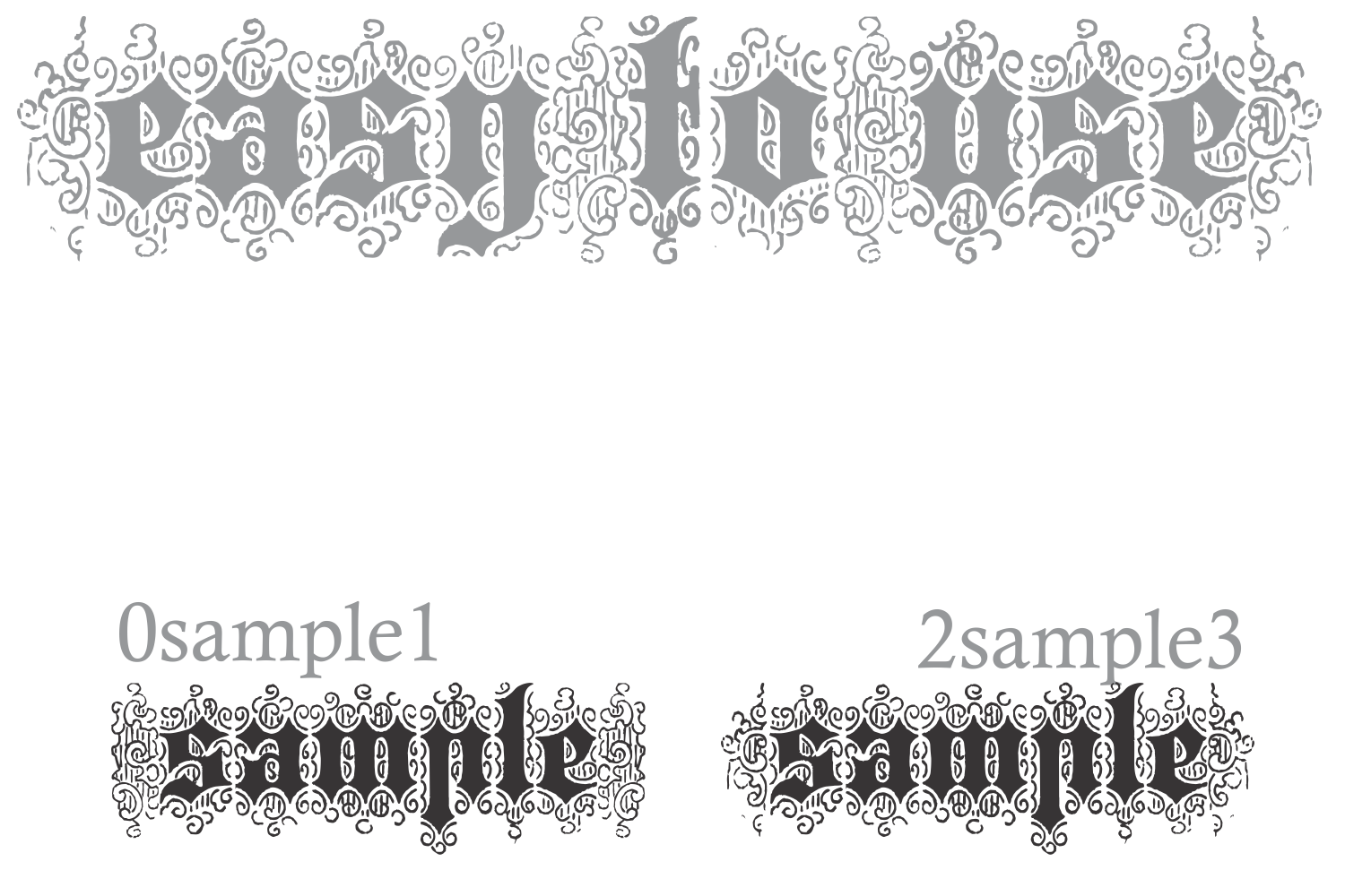 Bruce 532 Blackletter example image 3