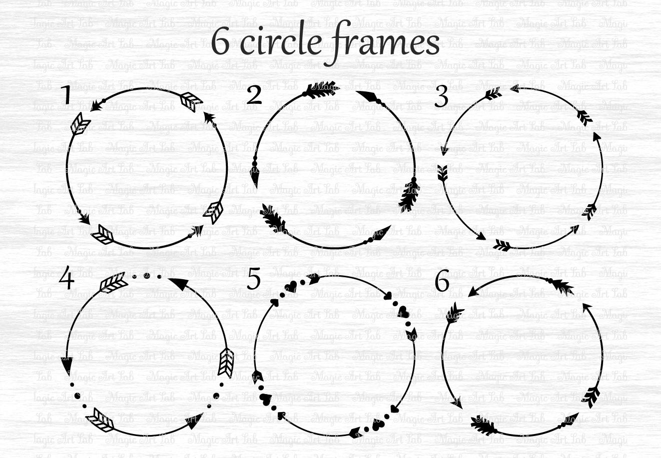 Arrows svg, Circle monogram svg, Circle frame arrow, Heart frame, Criss cross arrows, Tribal arrows svg, Boho arrows clipart, Ethnic aztec example image 5