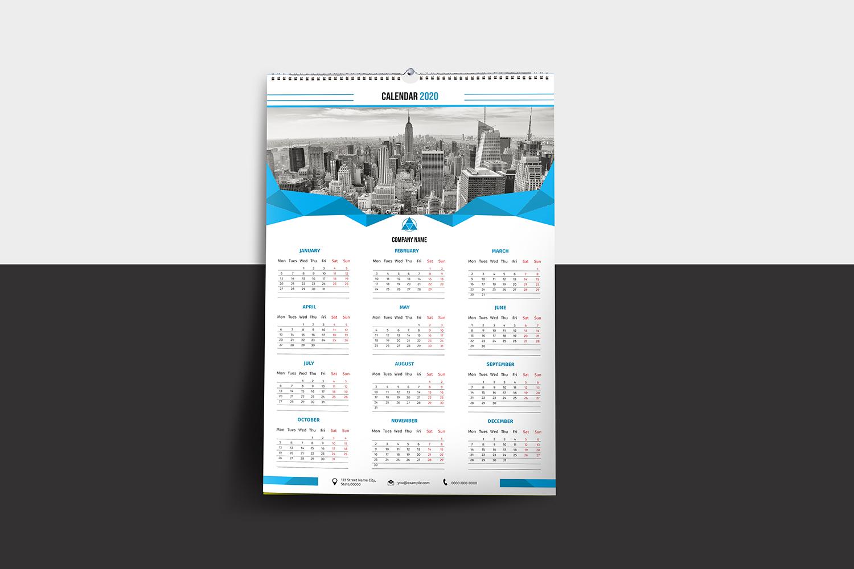 Printable Wall Calendar 2020 example image 2