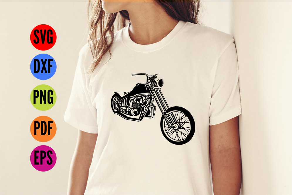 Harley Davidson Motorcycle SVG Cutting File  example image 4