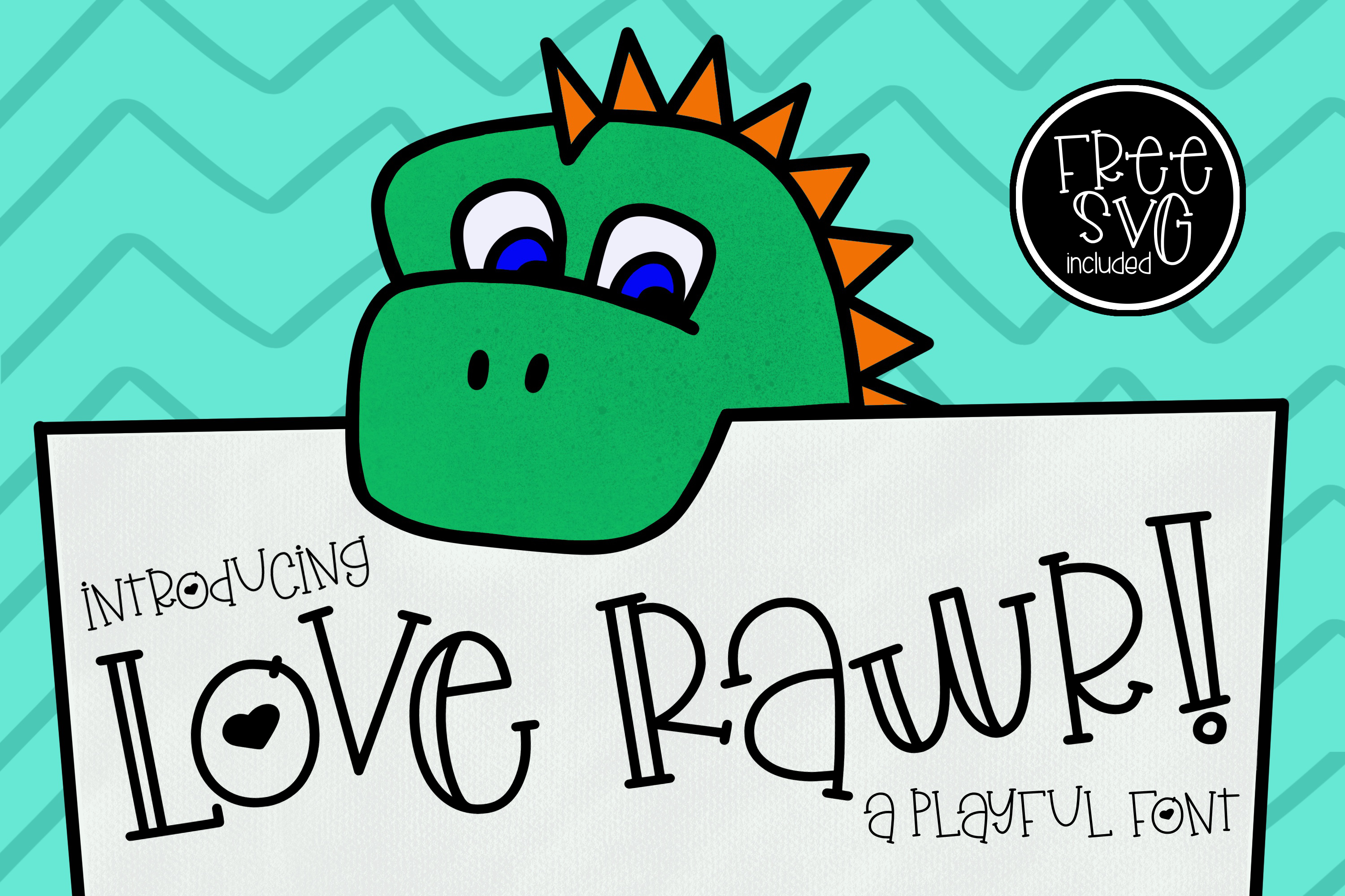 Love Rawr a playful font example image 1