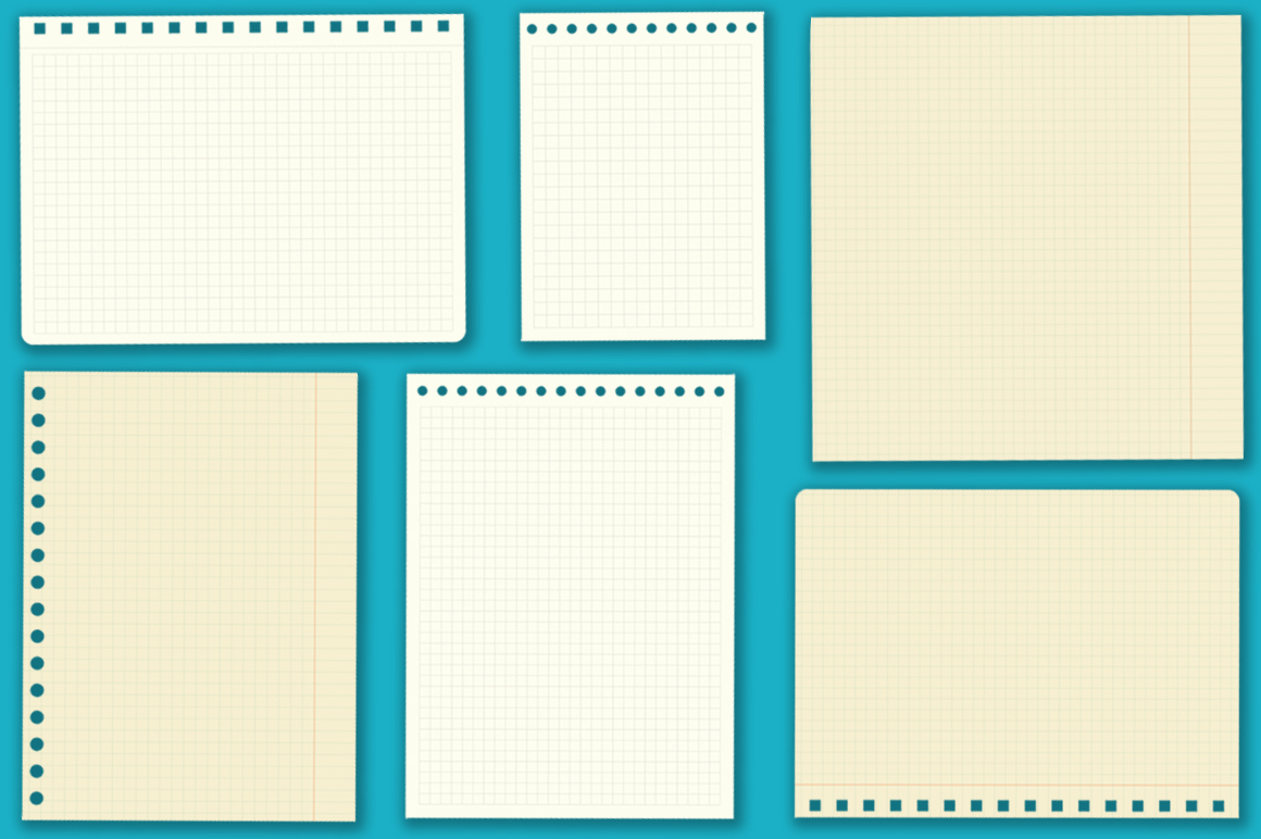 Notebook paper set example image 7