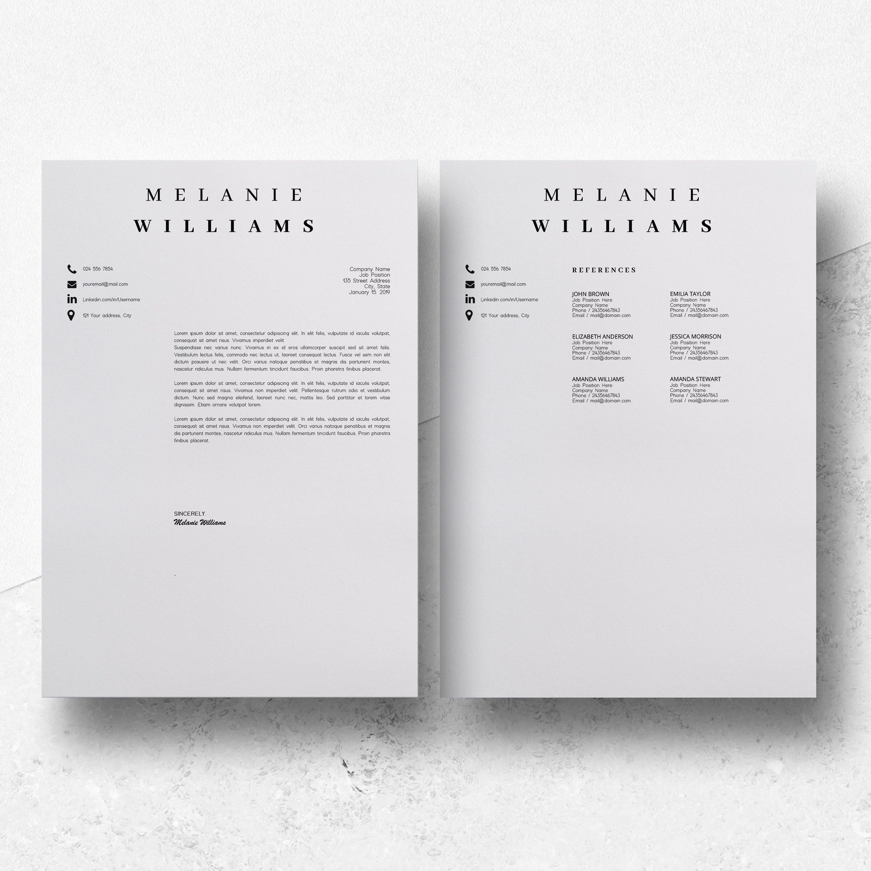 Resume Template Minimalist   CV Template Word - Melanie example image 7