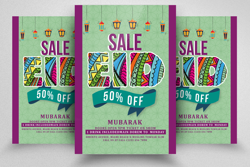Eid Sale Offer Flyer example image 1