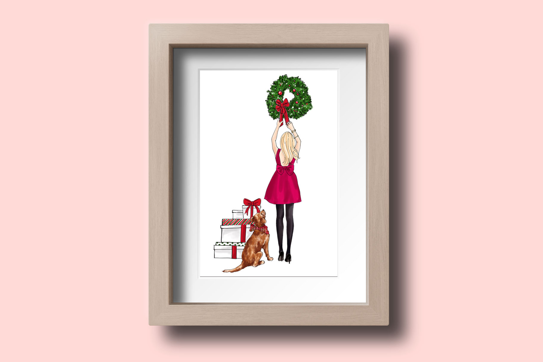Fashion illustration - Christmas Girl 7 - Blonde example image 7