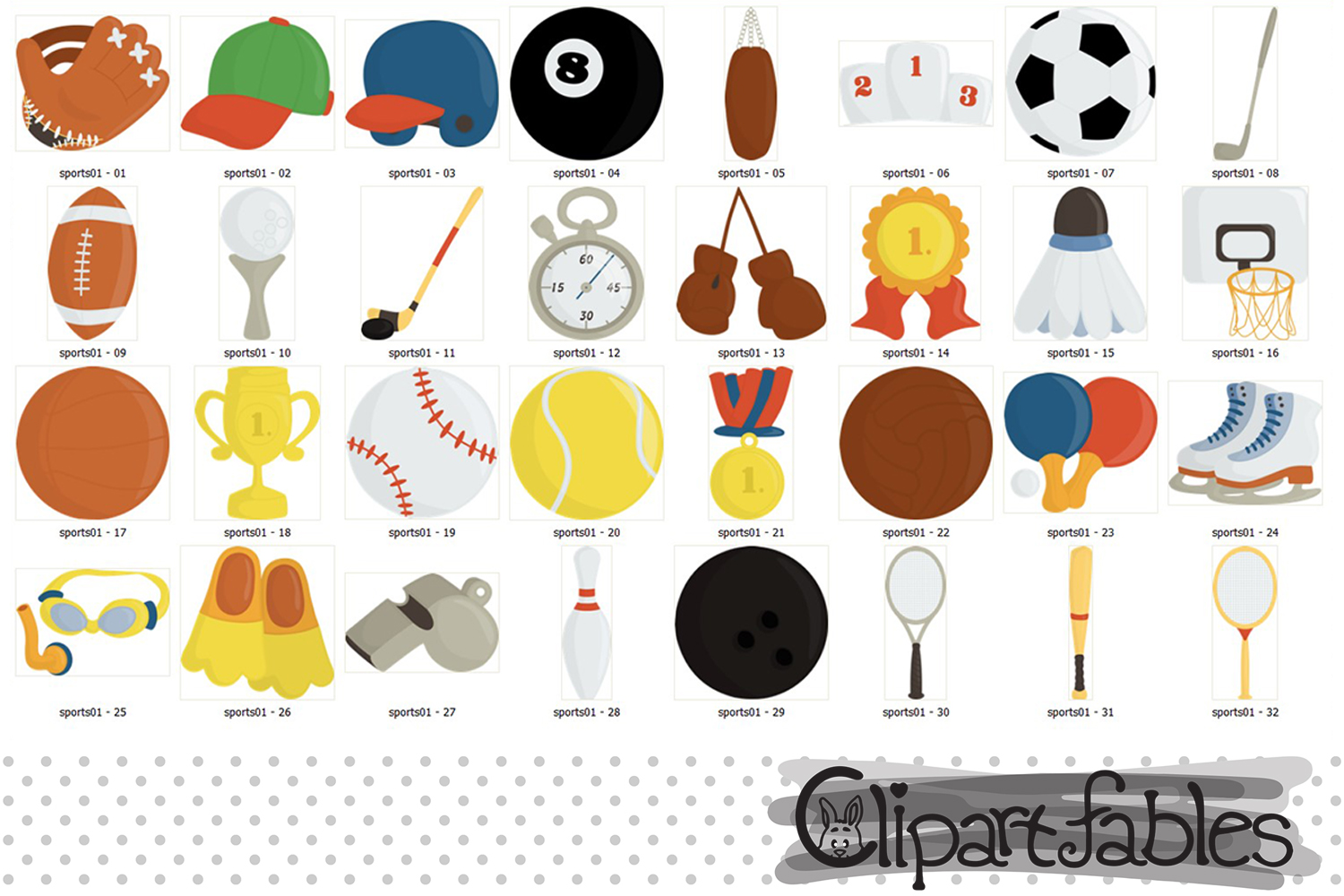 Sport clipart, Ball clip art, Sport birthday decor example image 2