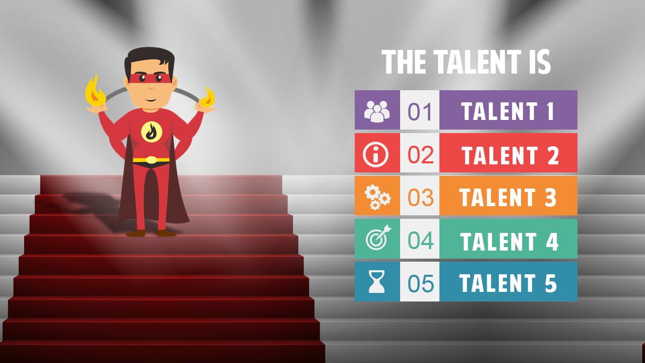 male superhero cartoon powerpoint template
