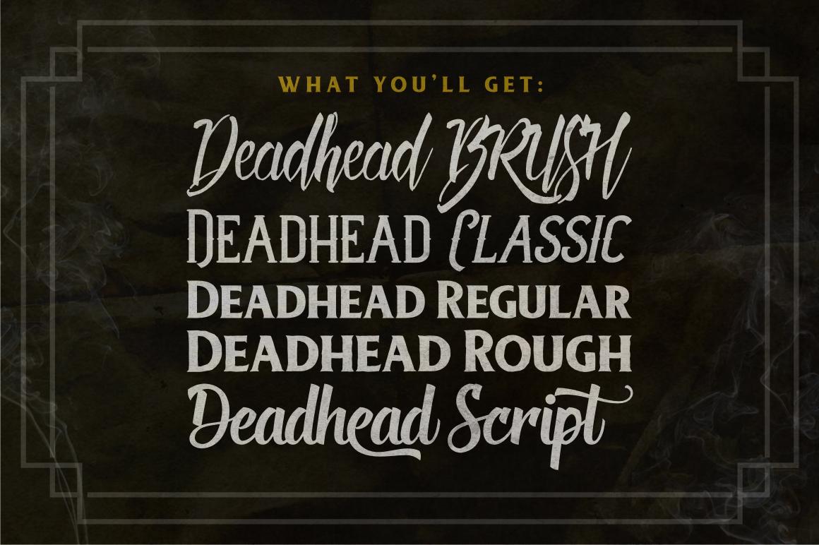 Deadhead Typeface Family example image 2