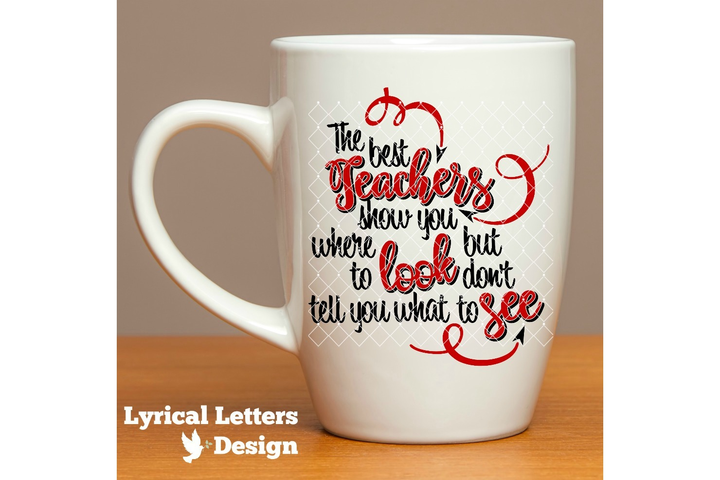 Teachers Show You Where to Look SVG Cut File LL117D example image 2
