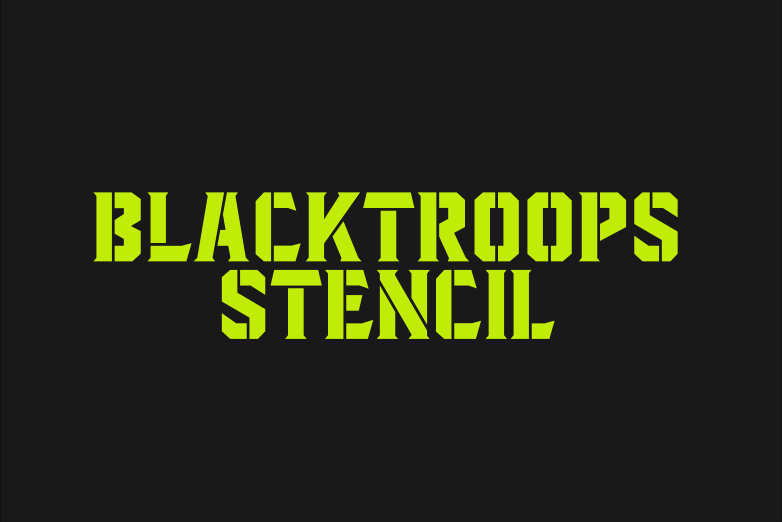 Blacktroops Stencil example image 1