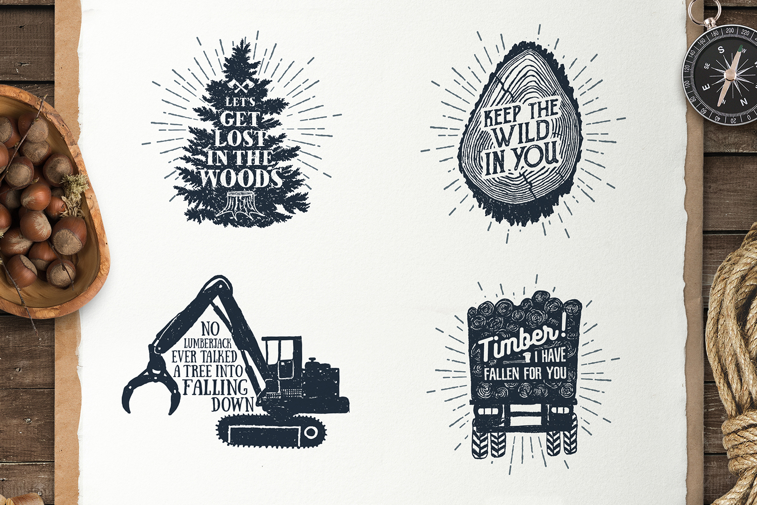 Lumberjack. Vintage Badges (part 2) example image 5
