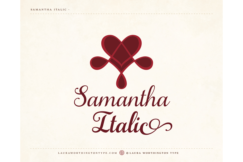 Samantha Script Italic Bold example image 3