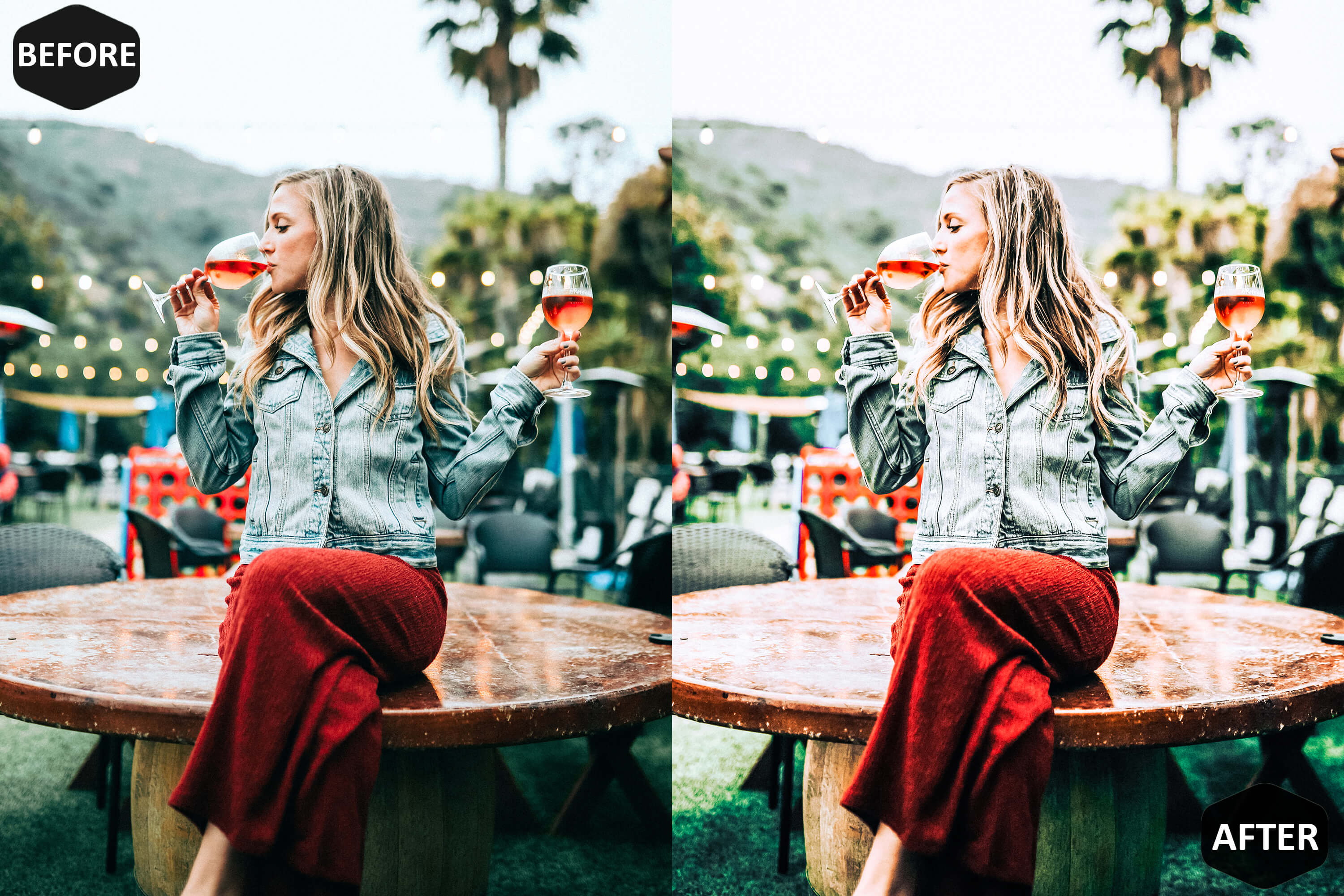 Red Blogger Photoshop Actions And ACR Presets example image 3