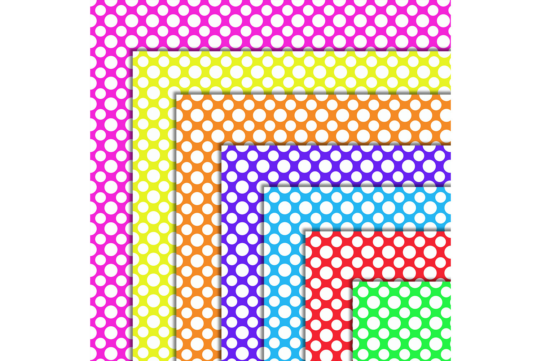 Polka Dot 50 Digital Scrapbooking Papers, BLACK FRIDAY OFF example image 2