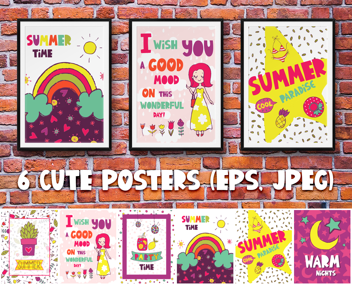 Summer Party - Clipart & Patterns example image 5
